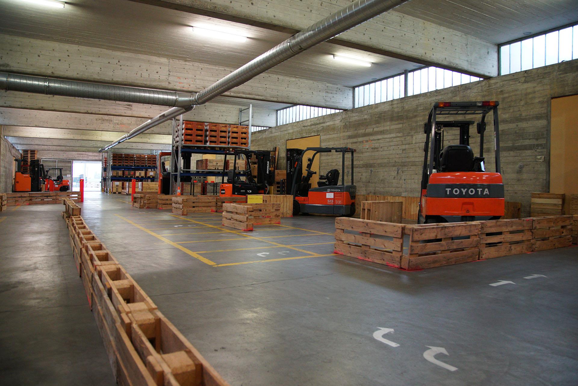 Gabelstapler Trainingspfad der Eurodriver AG