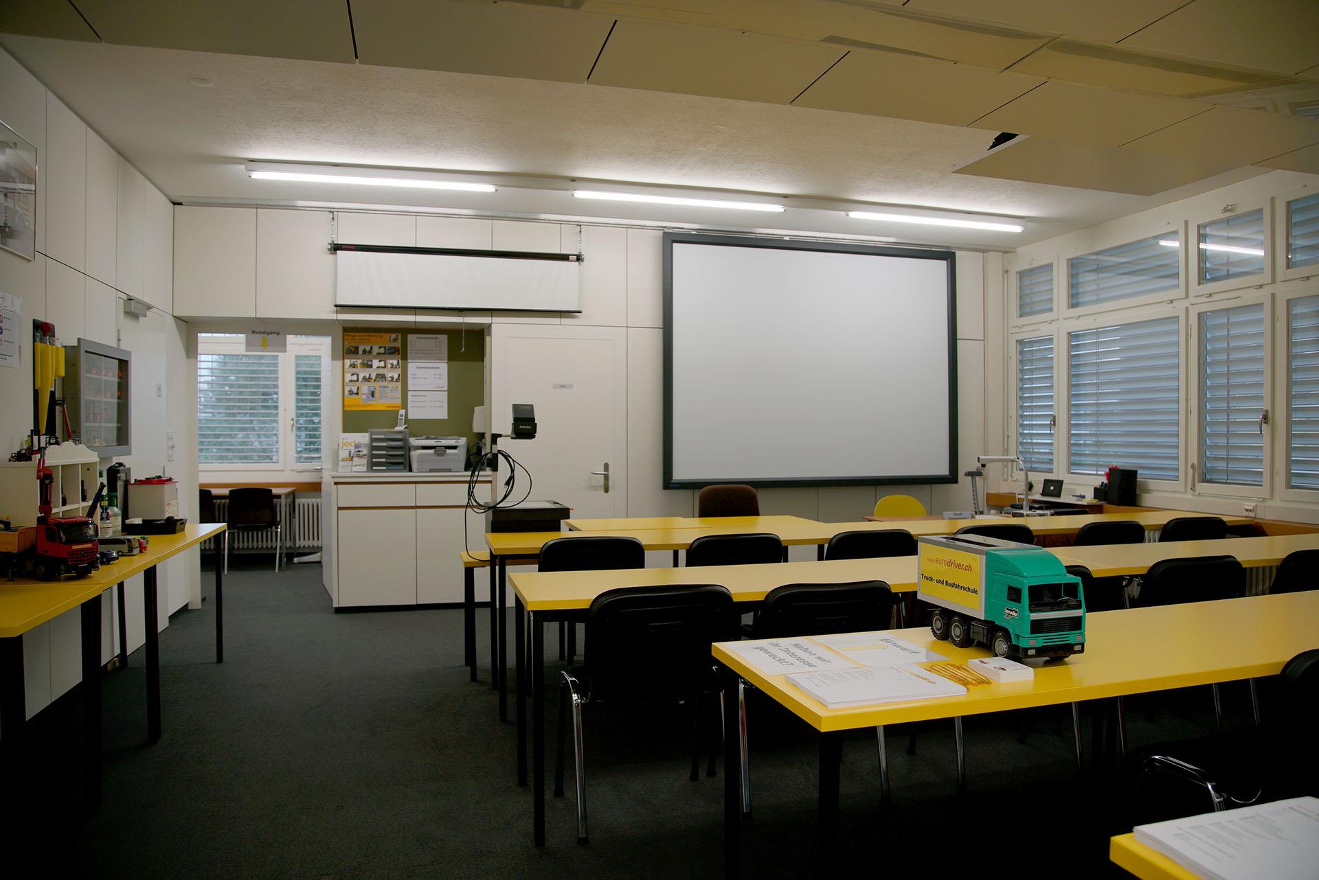 Schulungsraum der Eurodriver AG in Uzwil